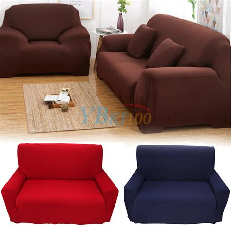 stretch covers for armchairs hot 1 2 3 4 seater stretch elastic slipcover sofa cover