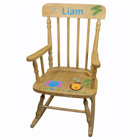 Toddler Rocking Chair With Name painted personalized childs spindle rocking chair