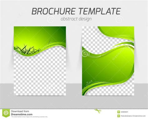 green brochure template green grass wave brochure stock vector image of