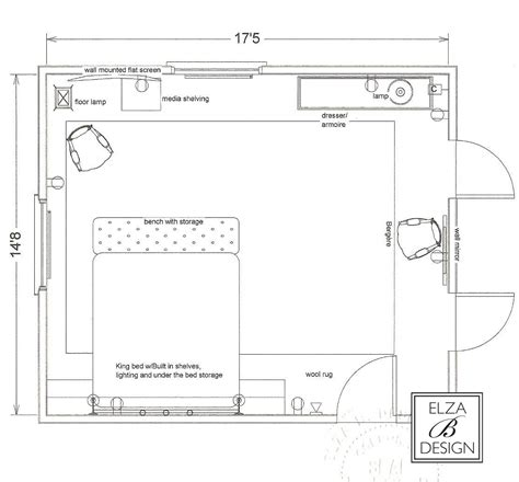 Bedroom Furniture Layout Design 101 Working With An Interior Designer Chez Elza