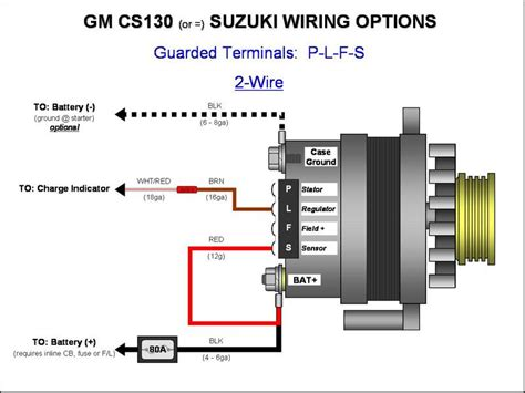 187 gm cs130 cs144 alternator wiring plfs 2 wire gm