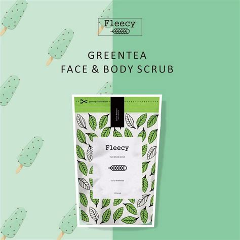 Terlaris Green Tea Fleecy Scrub Original Bpom jual beli green tea fleecy scrub original bpom baru