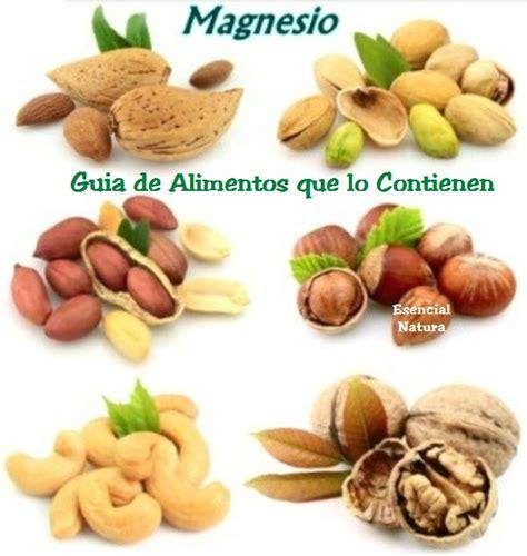 minerales en alimentos guia de alimentos ricos en magnesio