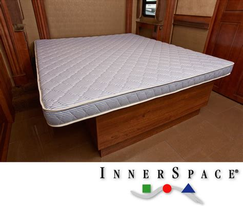 rv with king size bed innerspace 5 5 inch king size rv foam mattress