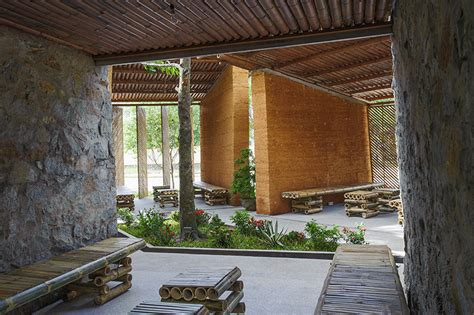 Bambus Shop 660 by H P Architects Sustainable Bamboo Earth And Pavilion