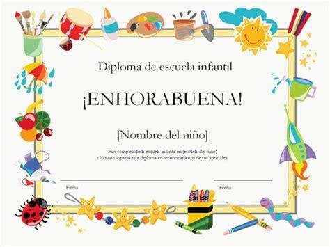 Para Ni Os E Infantil Diplomas Para Imprimir Gratis Para Ni Os | diplomas escolares infantiles para ni 241 os para imprimir y