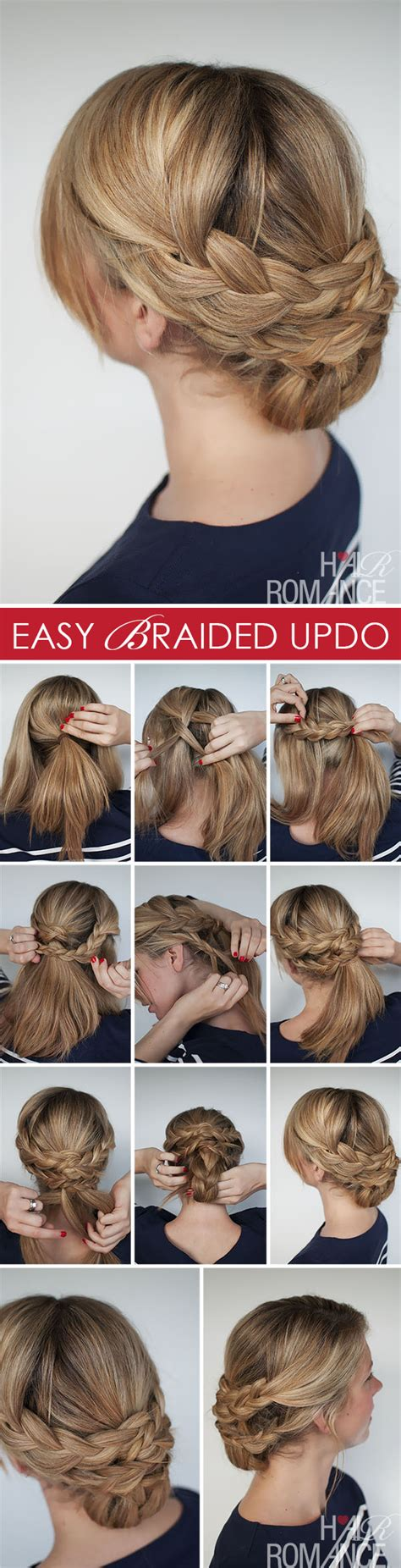 how to do a easy hairstyle hairstyle how to easy braided updo tutorial hair