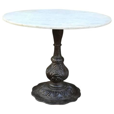 cast iron table base marble dining table with ornate cast iron base at 1stdibs