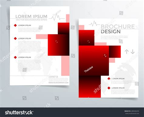 red brochure template vector background flyer stock vector