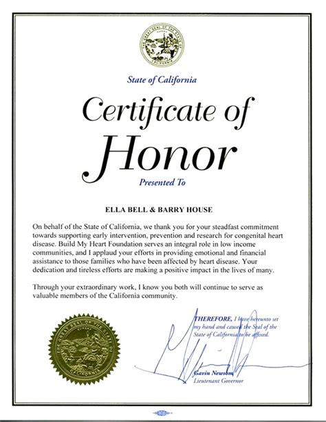 of honor template certificate of honor template certificate templates