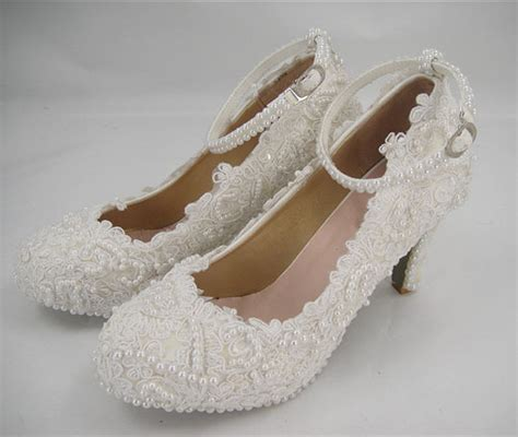 Pearl Bridal Shoes by Wedding Shoes Lace Pearl Bridal Shoes Flat Lace Bridal