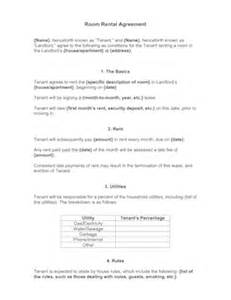 Room Lease Agreement Template Room Rental Agreement Template