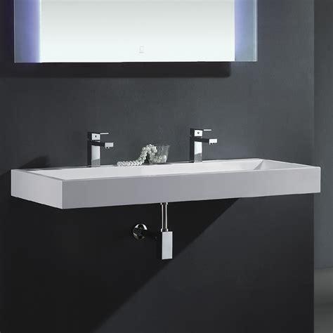 badezimmer waschbecken mit 2 armaturen waschtisch lang best als auch praktisch und formschn