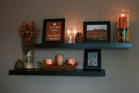 how to decorate floating shelves my happy house fall decorating 2011 part 1 for the home