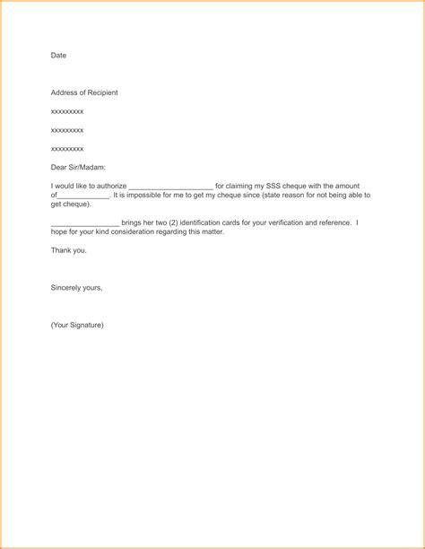 Authorization Letter Last Pay Resume Cover Letter Exle Word Thank You Letter Or Email Resume Cover Letter