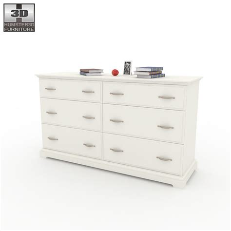 birkeland chest of 6 drawers 3d model by humster3d