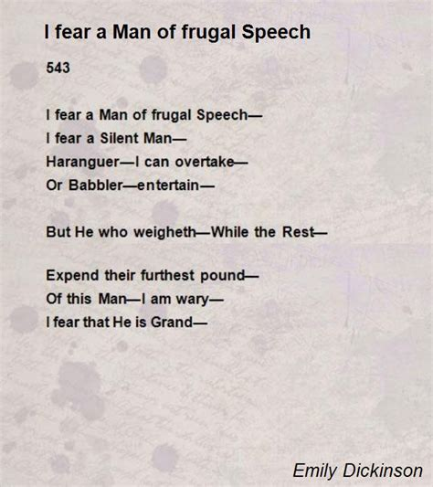 emily dickinson poetry biography i fear a man of frugal speech poem by emily dickinson