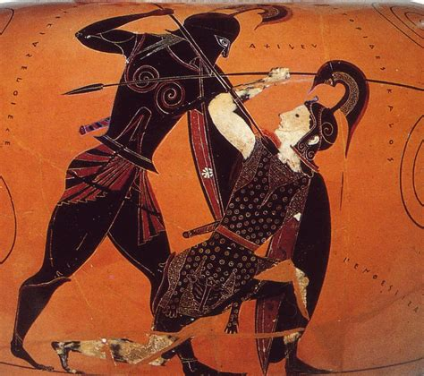 Achilles And Penthesilea Vase by Classics 100 Umass Classics 100 With Philipiddes At