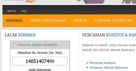 cek resi bersama cara cek kiriman pos indonesia cara online