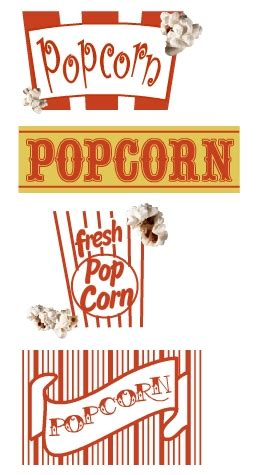 printable popcorn letters doodle doo