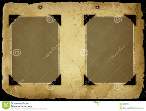 Corner Photo Frames vintage album page stock image image of formal blank