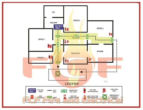 fire evacuation floor plan how to develop an emergency evacuation map for your business
