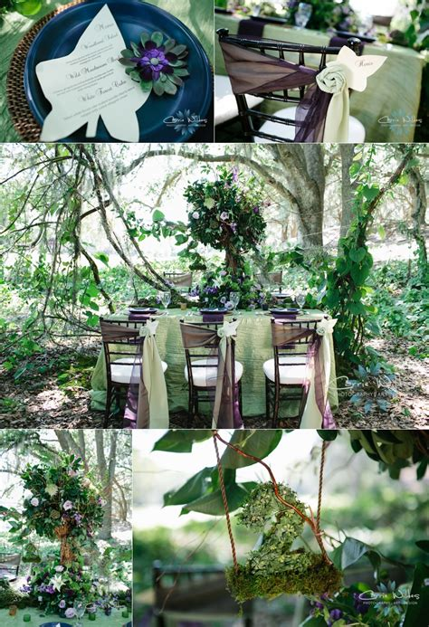 Forest Wedding Concept by Enchanted Forest Wedding Concept Featured On Savvy Deets