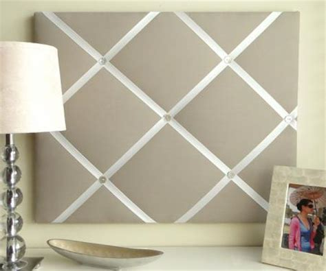 pattern for french memo board fabric picture board with ribbon but simple solid color