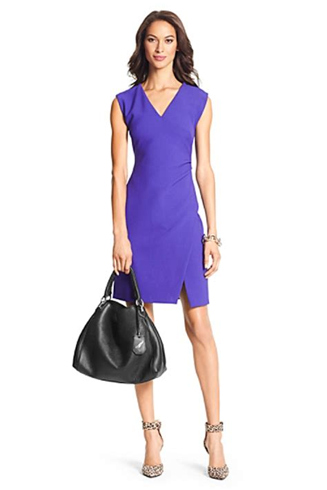 Sale 30118 Dress Megan dvf megan ceramic slit sheath dress sale by dvf