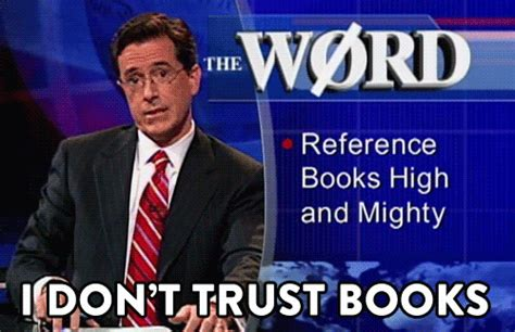 colbert report book television gif find on giphy