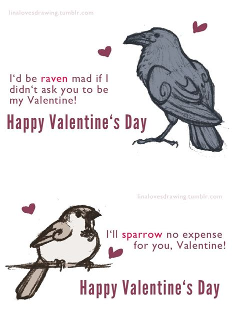 valentines puns birds puns sketches bad puns