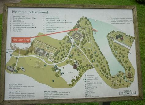 map  grounds picture  harewood house leeds