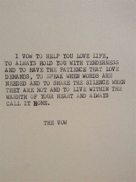 vow of living an extraordinary of compassion books the vow typewriter quote on 5x7 cardstock beautiful