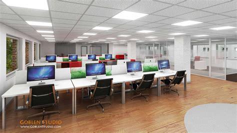 design interior office space architectural visualization office interior design 01