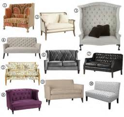 room settee small space sofa alternatives 10 settees loveseats apartment therapy
