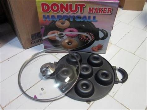 happy call alat masak pembuat donat manual praktis donut maker teflon asli