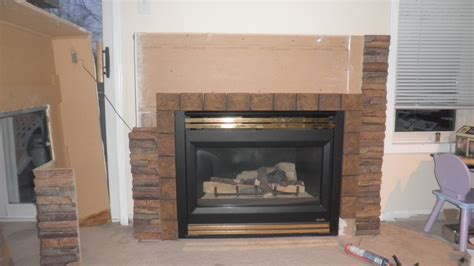 fireplace project step by step creative faux panels