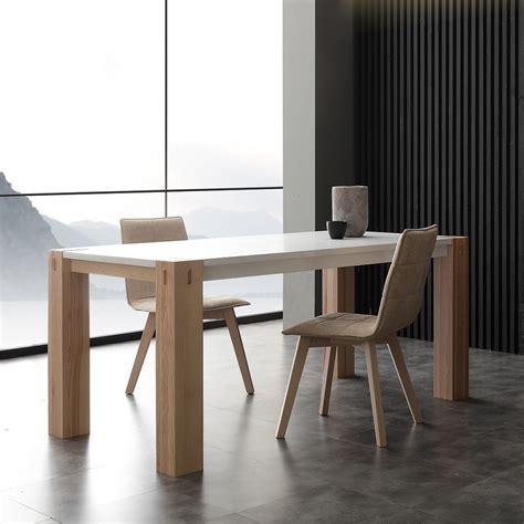 tavolo legno massiccio allungabile tavolo moderno factory bicolor in legno allungabile