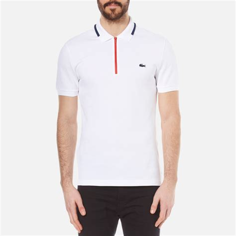 Lacoste Croc Zippered 2892 lacoste s made in zip polo shirt white ship free uk delivery 163 50