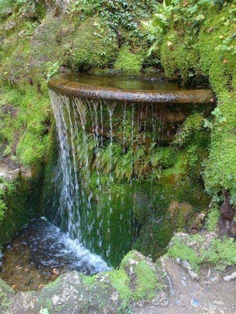 stein wasserfall garten garten steinmauer wasserfall rheumri