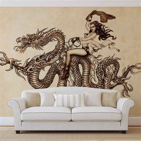 mural tattoo wall paper mural buy at europosters