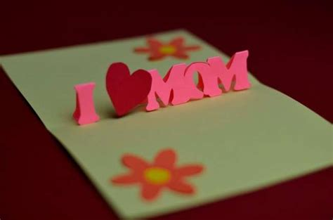 mothers day pop up card templates festa della mamma realizzare un biglietto pop up foto