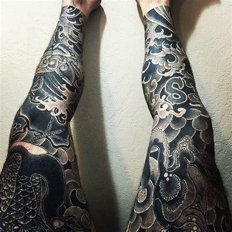 japanese tattoo leg sleeve japanese leg tattoo sleeves by cbrandworks horitomo