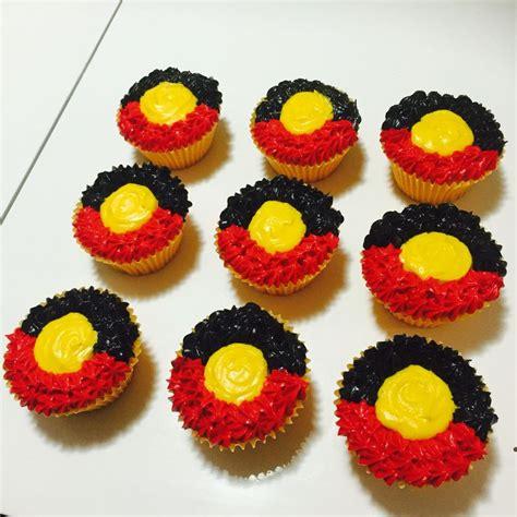 naidoc week cupcakes aboriginal flag   cupcakes