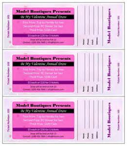 Credit Ticket Template 15 Free Raffle Ticket Templates In Microsoft Word Mail Merge