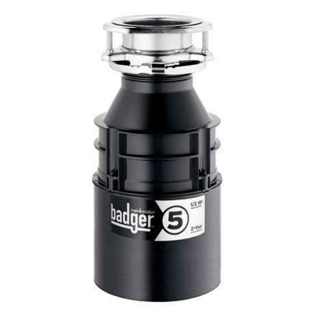 sink garbage disposal badger 5 in sink erator garbage disposal