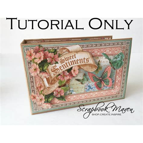 scrapbook maven tutorial spring mini album video tutorial only scrapbook maven
