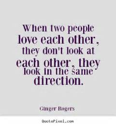 In Love With Two People Quotes by Ginger Rogers Picture Quote When Two People Love Each