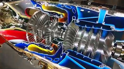 pratt whitney pt6 engine cutaway of a mainstay available this full motion cutaway of a pt6 turboprop engine is a