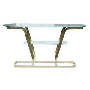 Brass Console Table Two Tier Brass And Glass Console Sofa Table For Sale At 1stdibs